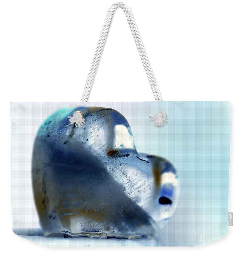 Hearts Weekender Tote Bag featuring the photograph Heart On The Edge by Amanda Barcon