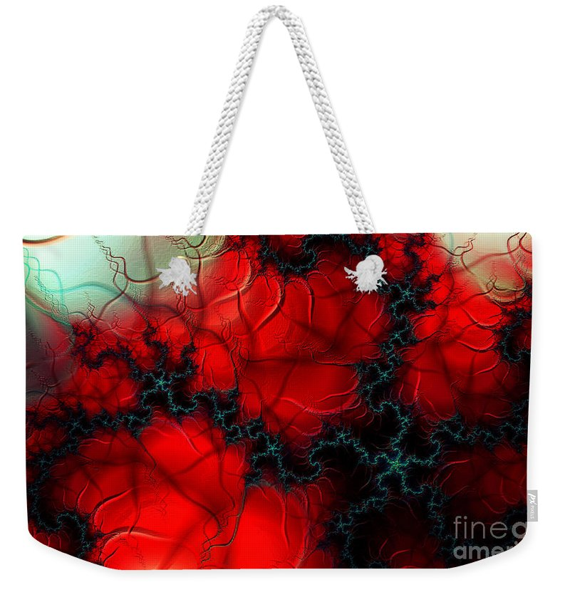 Clay Weekender Tote Bag featuring the digital art Heart Pulse by Clayton Bruster
