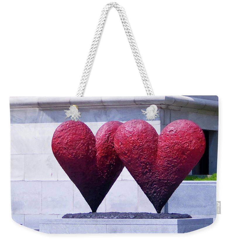 #heart Weekender Tote Bag featuring the photograph Heart To Heart by Jacquelinemari