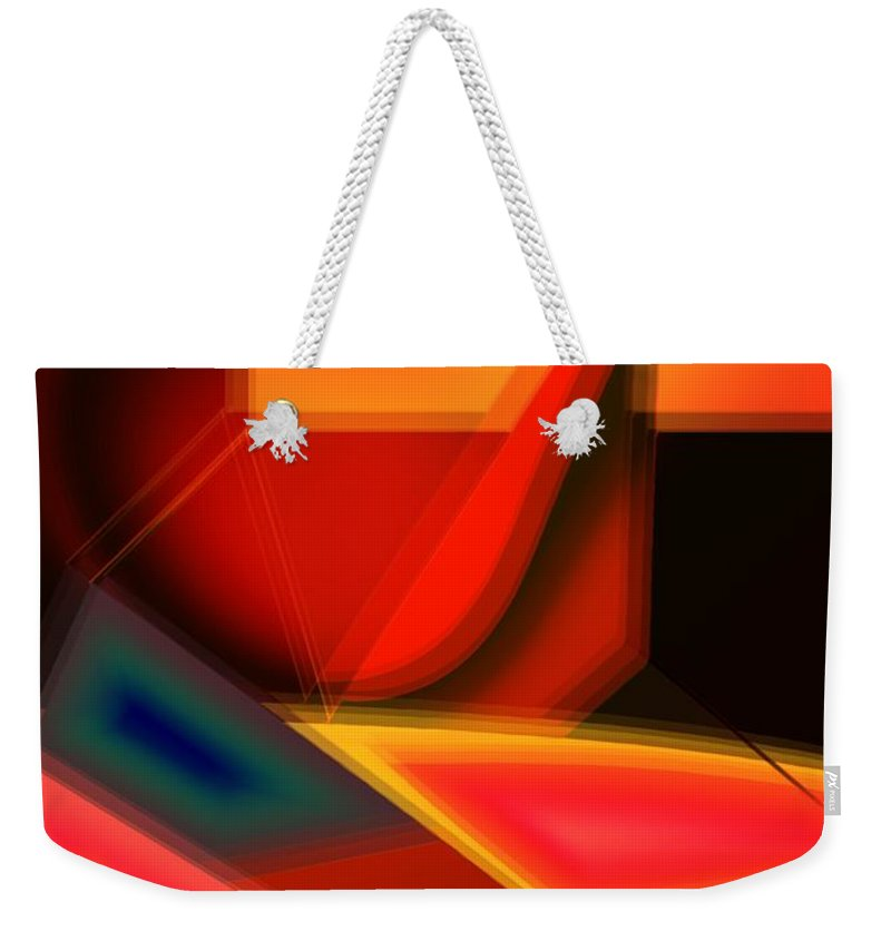 Heartbeat Weekender Tote Bag featuring the digital art Heartbeats by Helmut Rottler