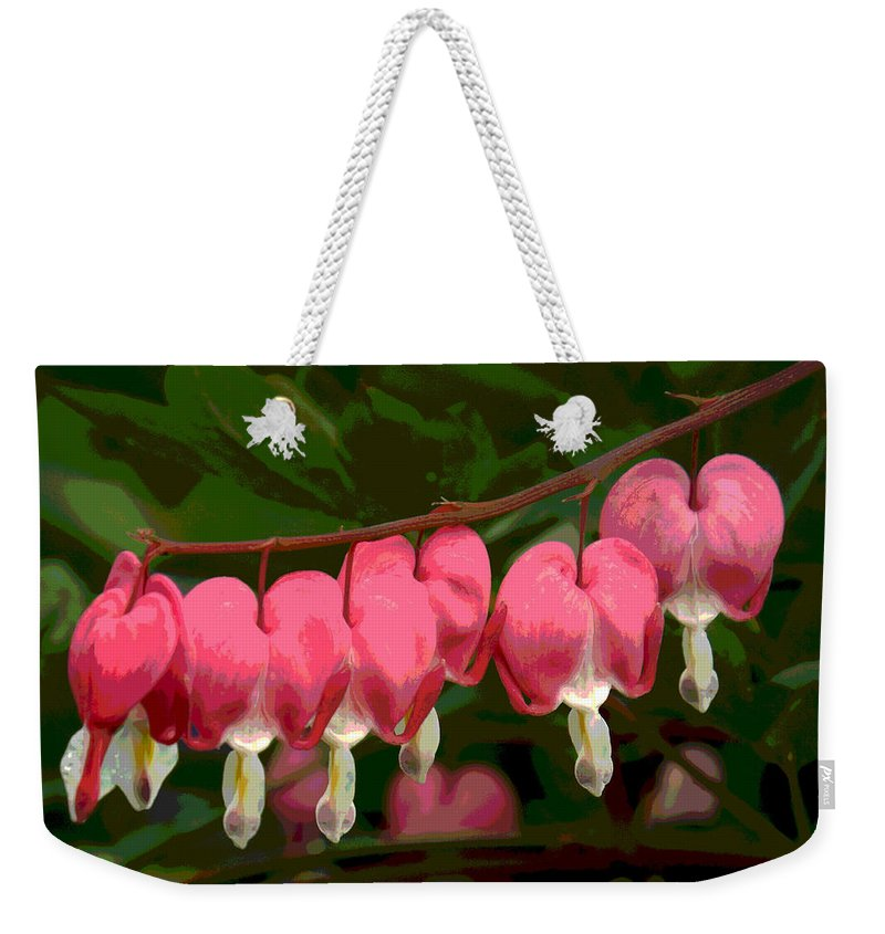 Springtime Weekender Tote Bag featuring the photograph Hearts A' Flutter by Dianne Cowen