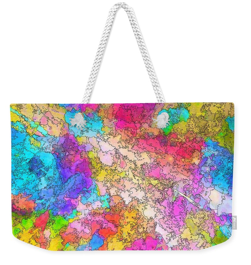 heat Map Weekender Tote Bag featuring the painting Heat Map by Mark Taylor