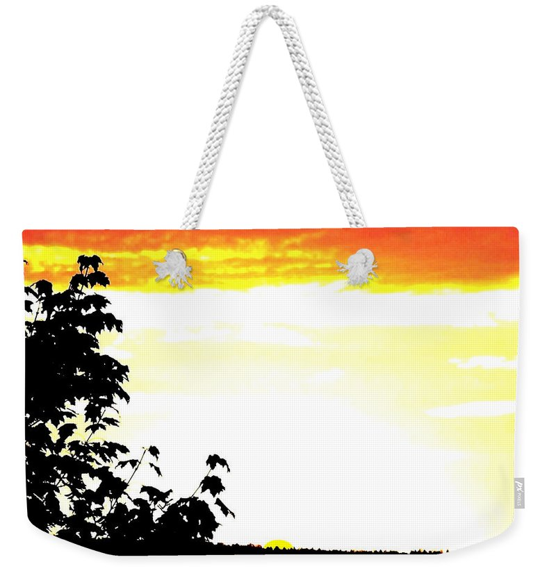 Heat Wave Weekender Tote Bag featuring the digital art Heat Wave by Will Borden