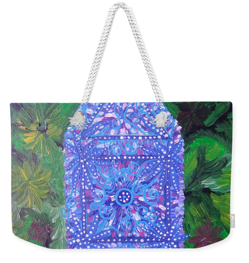 Ancient Symbol Weekender Tote Bag featuring the painting Heaven-earth Connection by Joanna Pilatowicz