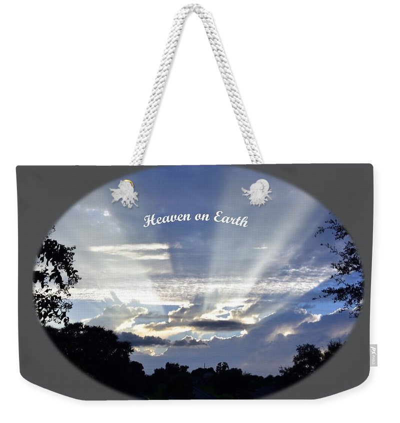 Landscape Weekender Tote Bag featuring the photograph Heaven On Earth 2 by Deborah Good