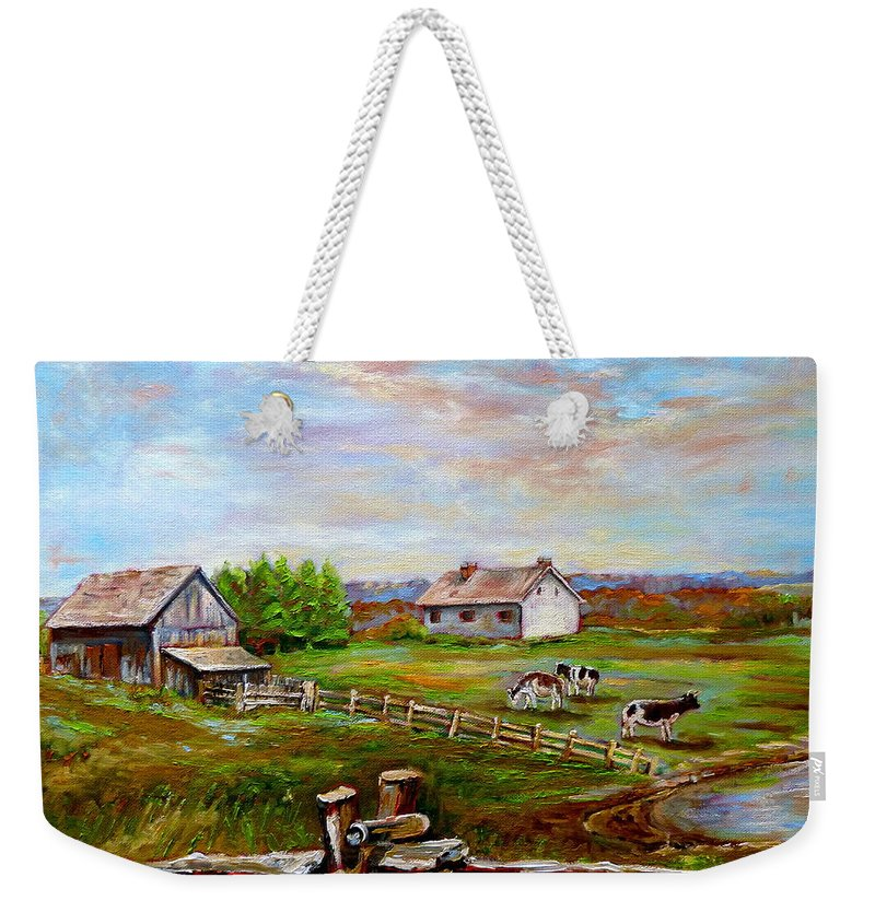 Ile D'orleans Weekender Tote Bag featuring the painting Heaven On Earth by Carole Spandau