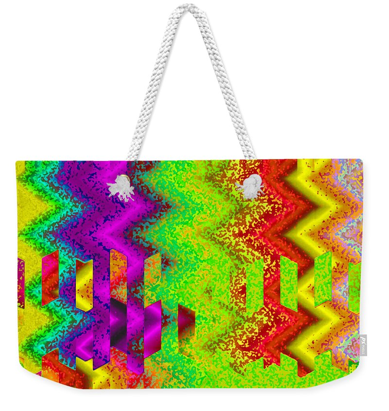 Abstract Weekender Tote Bag featuring the digital art Heaven by Ruth Palmer