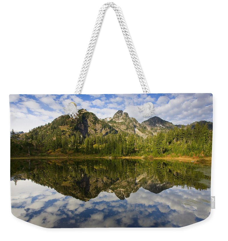 Lake Weekender Tote Bag featuring the photograph Heaven Unfolded by Mike Dawson