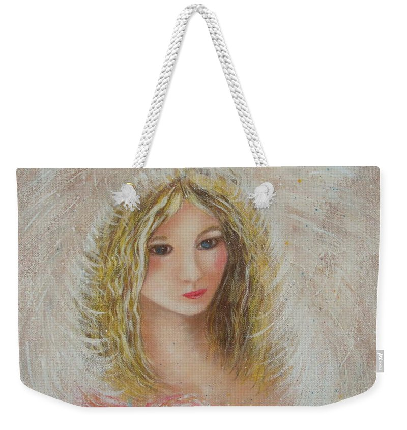 Angel Weekender Tote Bag featuring the painting Heavenly Angel by Natalie Holland