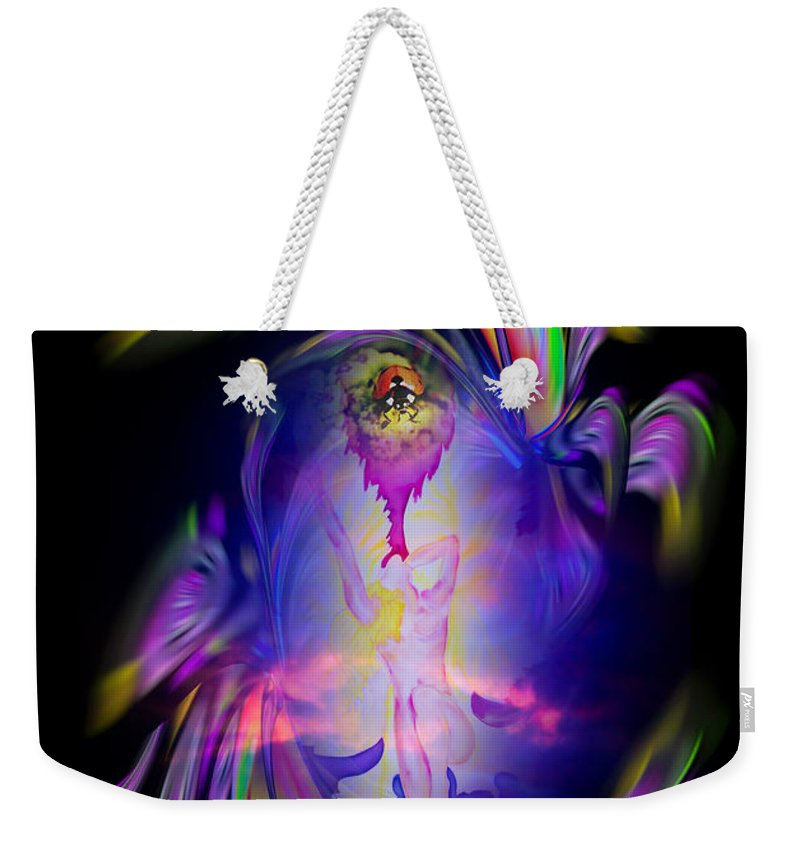 Heavenly Weekender Tote Bag featuring the painting Heavenly Apparition by Walter Zettl