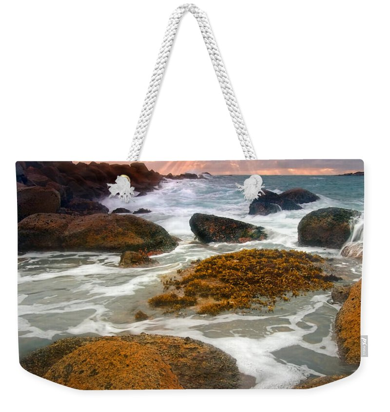Sunrise Weekender Tote Bag featuring the photograph Heavenly Dawning by Mike Dawson