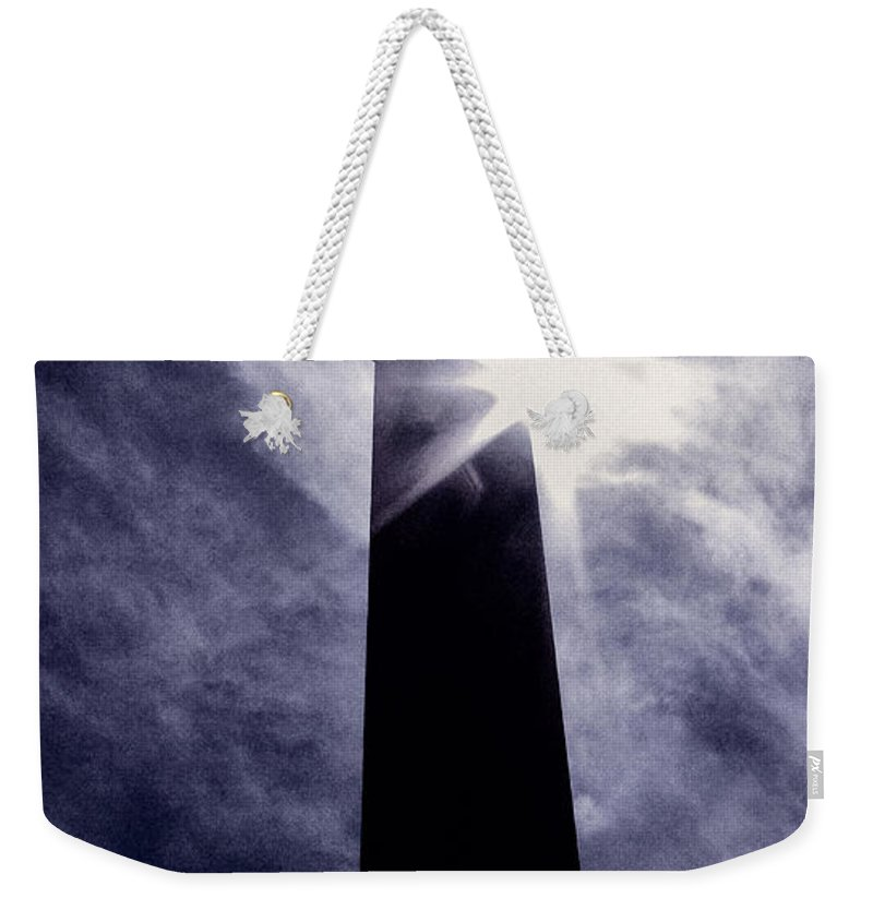 Cemetery Weekender Tote Bag featuring the photograph Heavenly Eclipse by Scott Wyatt