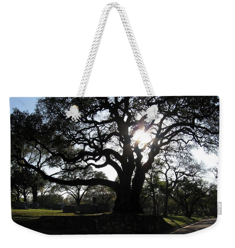 Cemetery Weekender Tote Bag featuring the photograph Heavenly Rest by Amy Hosp