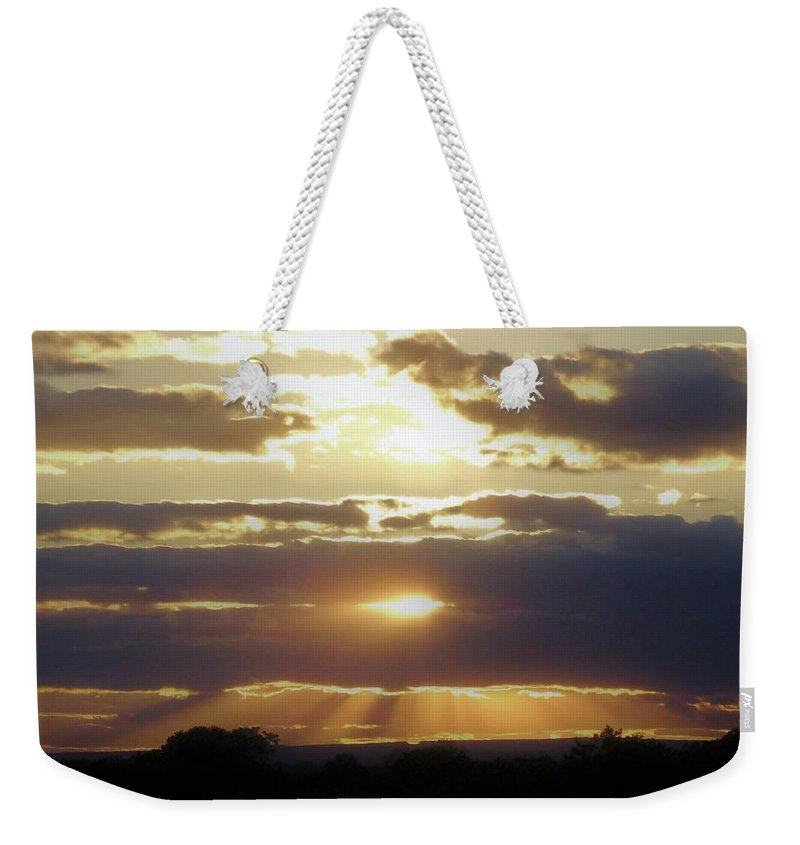 Heaven Weekender Tote Bag featuring the photograph Heaven's Rays 2 by Scenic Sights By Tara