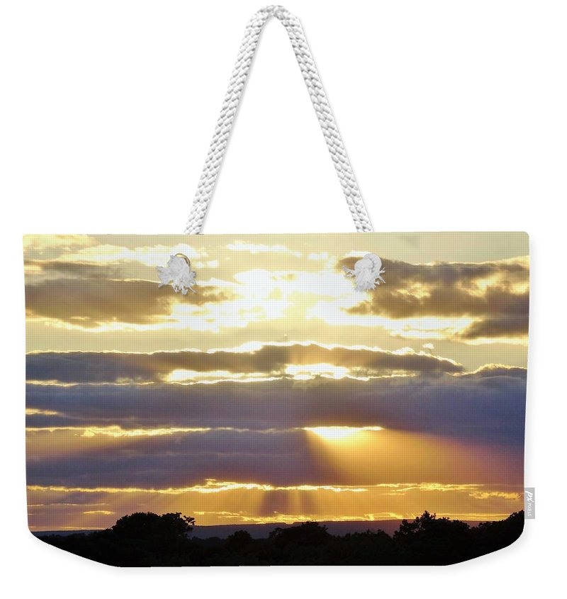 Heaven Weekender Tote Bag featuring the photograph Heaven's Rays by Scenic Sights By Tara