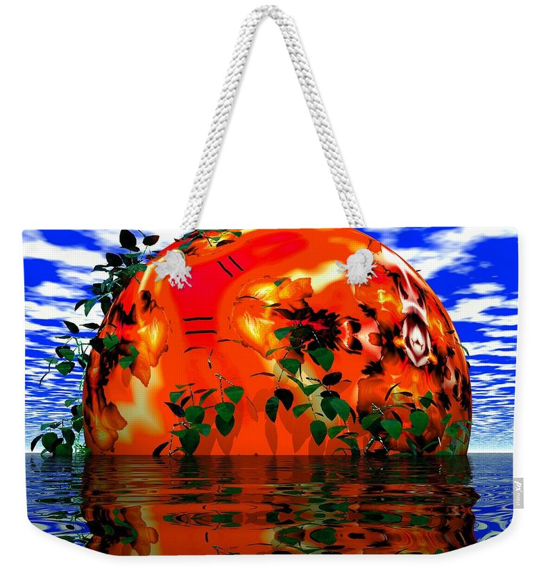 Sphere Weekender Tote Bag featuring the digital art Heavens Scent by Robert Orinski