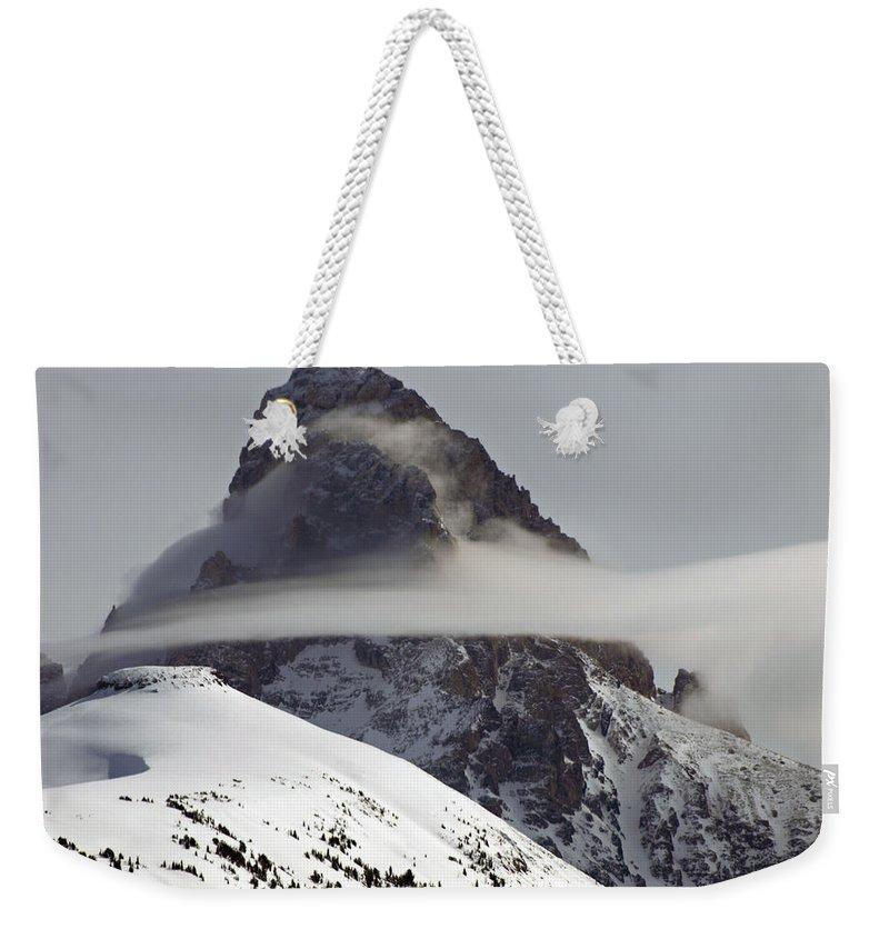 Landscape Weekender Tote Bag featuring the photograph Heaven's Silk by DeeLon Merritt
