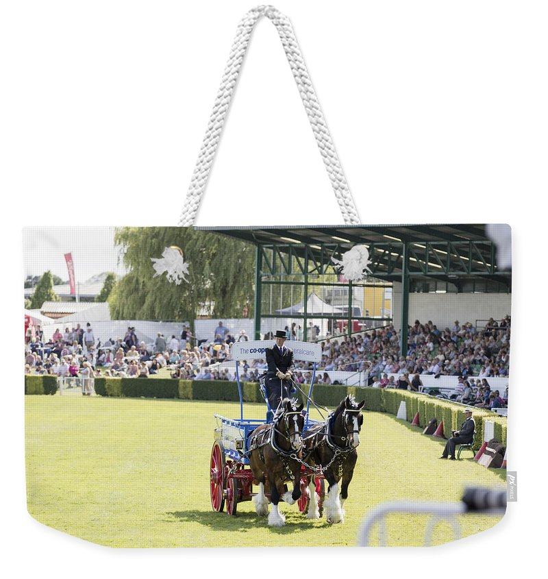 Agricultural Weekender Tote Bag featuring the photograph Heavy Horses Competition by Chris Smith