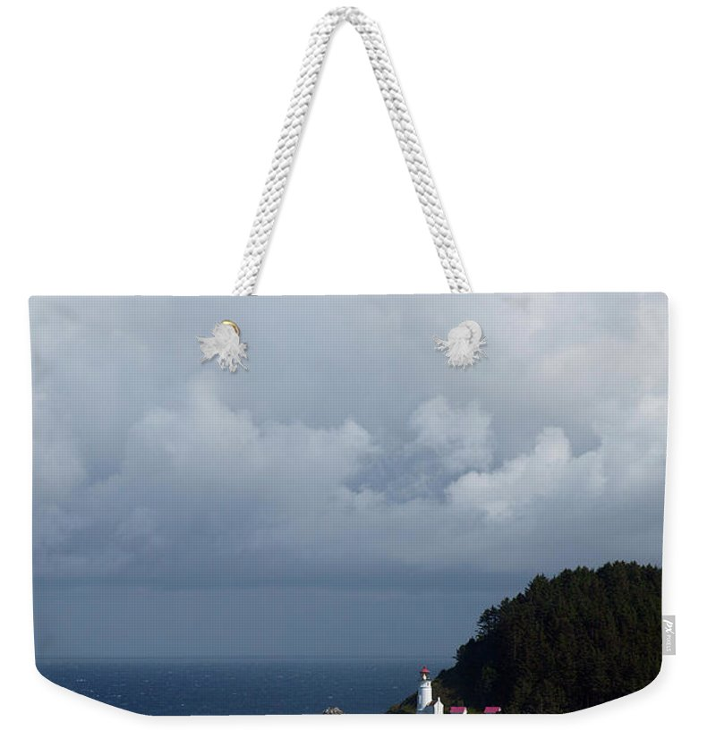Heceta Head Weekender Tote Bag featuring the photograph Heceta Head Lighthouse by Randall Ingalls