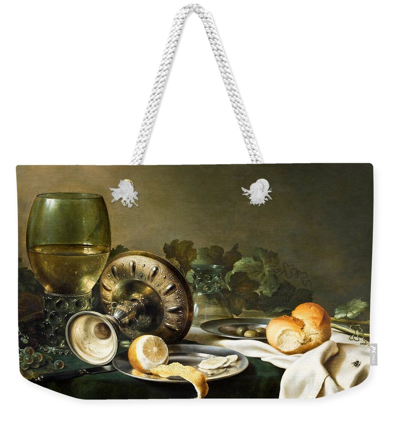 Painting Weekender Tote Bag featuring the painting Heda - Still-life by Mountain Dreams