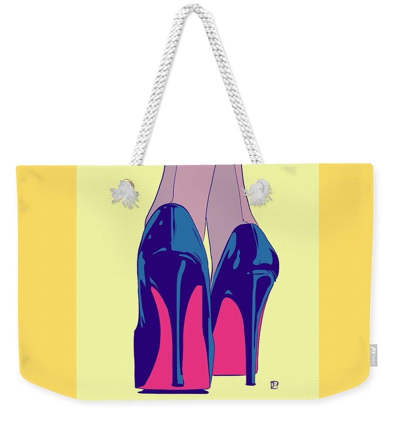Heels. Sexy Weekender Tote Bag featuring the drawing Heels by Giuseppe Cristiano