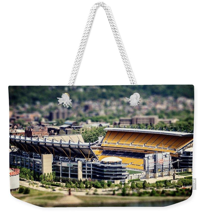 Heinz Field Weekender Tote Bag featuring the photograph Heinz Field Pittsburgh Steelers by Lisa Russo