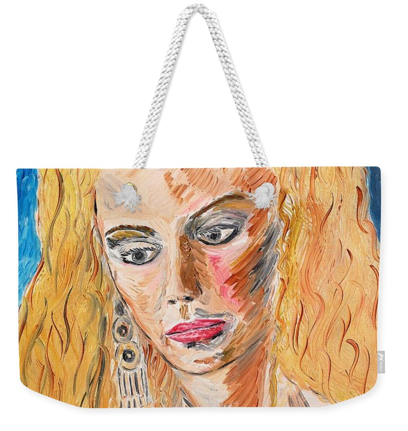 Helen Weekender Tote Bag featuring the painting Helen Of Troy by Valerie Ornstein