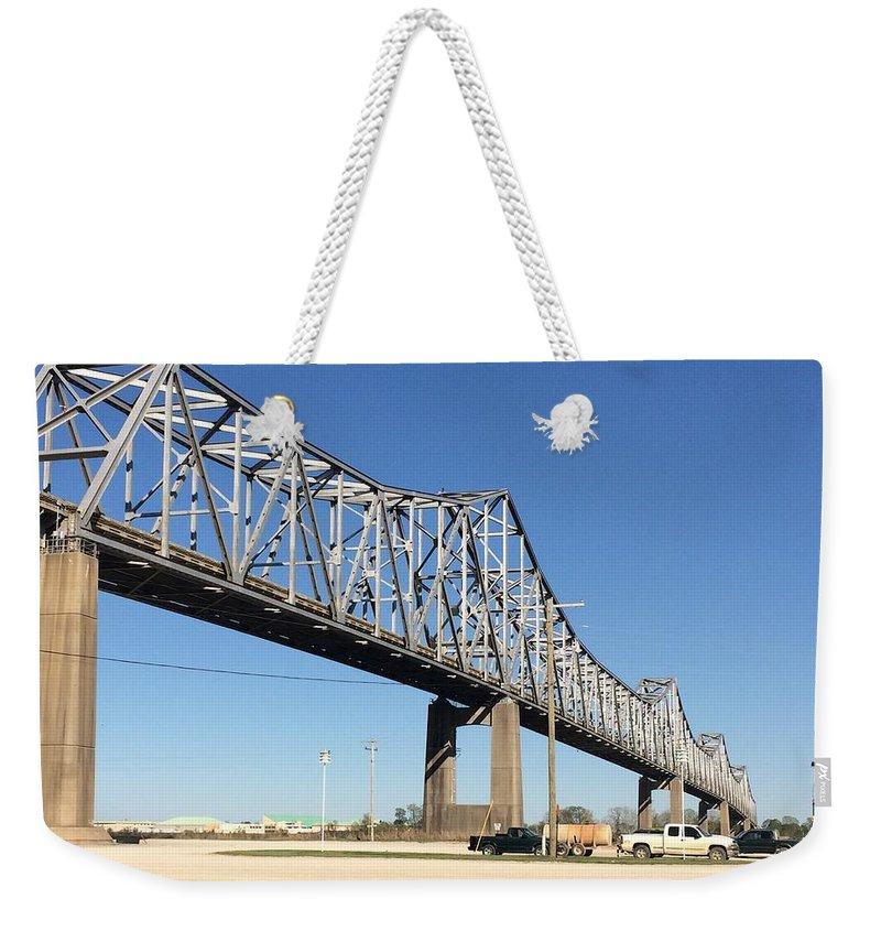 Bridge Weekender Tote Bag featuring the photograph Helena Arkansas Bridge 2 by Tamra Lockard