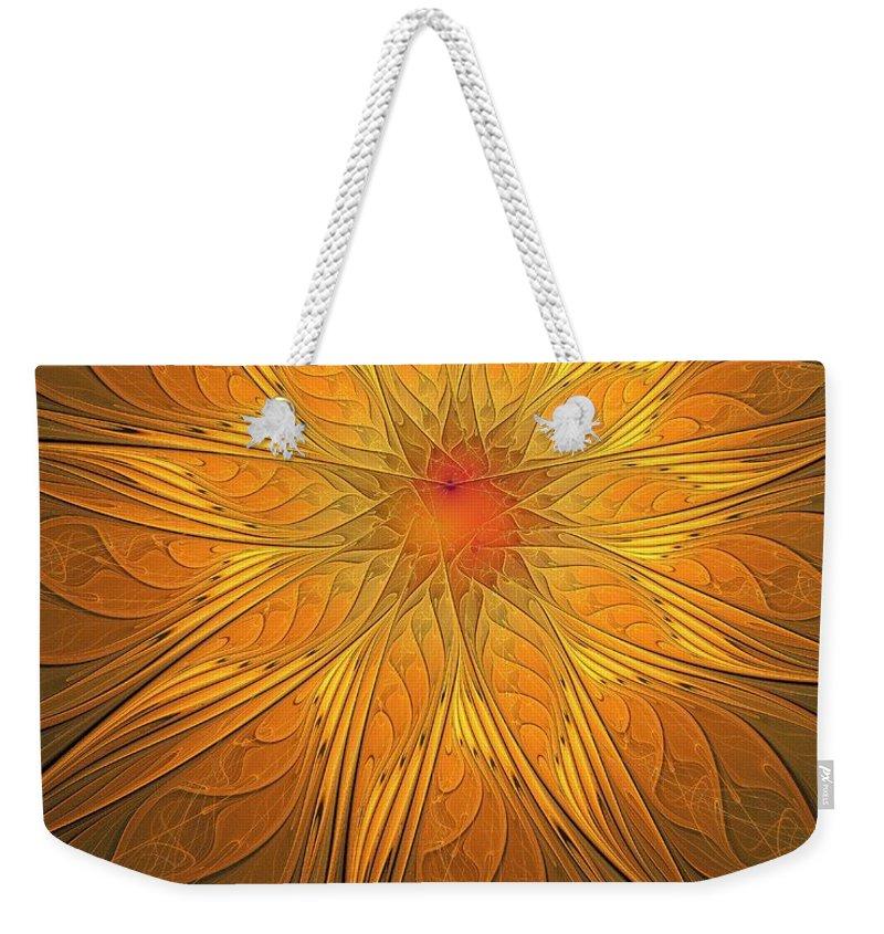 Digital Art Weekender Tote Bag featuring the digital art Helio by Amanda Moore