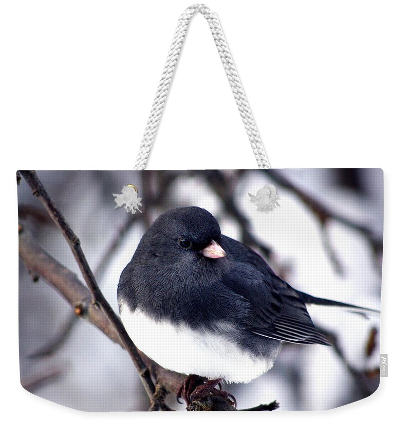 Birds Weekender Tote Bag featuring the photograph Hello... by Arthur Miller
