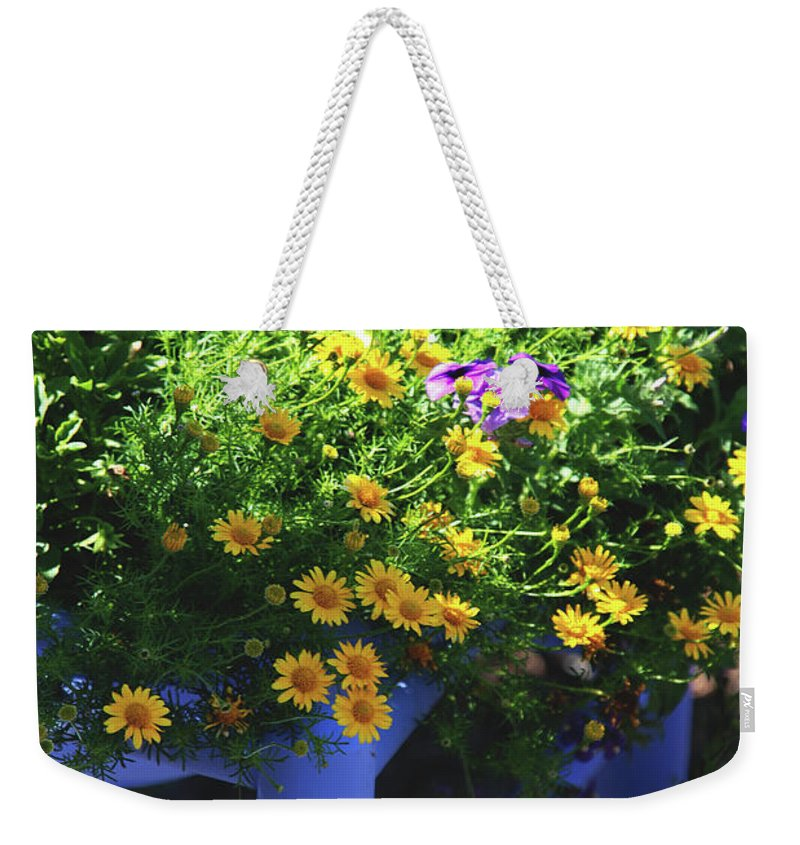 Chair Weekender Tote Bag featuring the photograph Hello Sunshine by Susanne Van Hulst