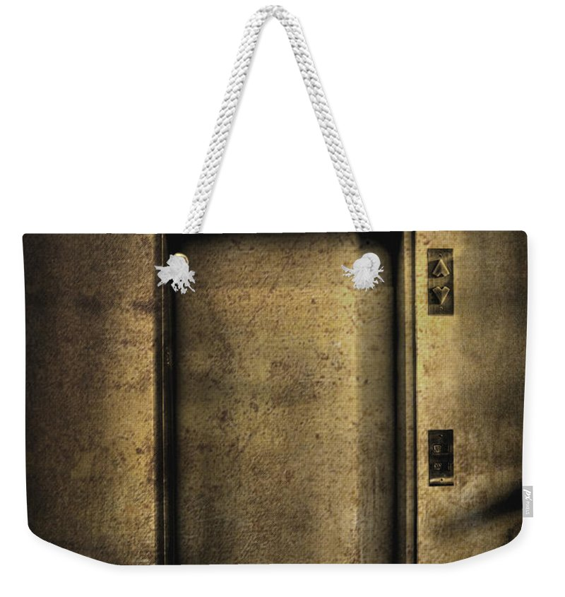 Elevator Weekender Tote Bag featuring the photograph Hells Elevator by Margie Hurwich