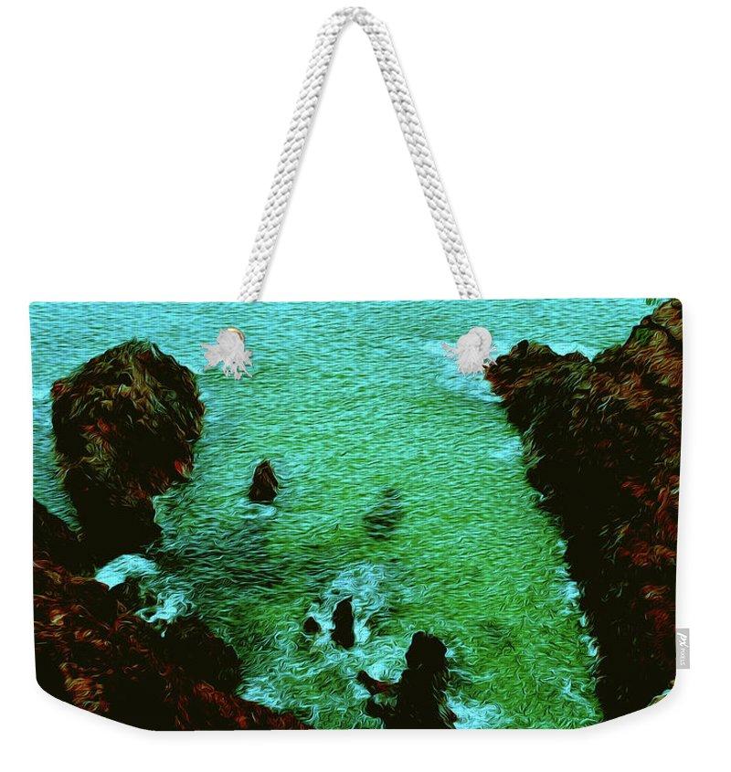 Noosa National Park Weekender Tote Bag featuring the digital art Hell's Gate #2 by Jolanta Bibianna Maciolek