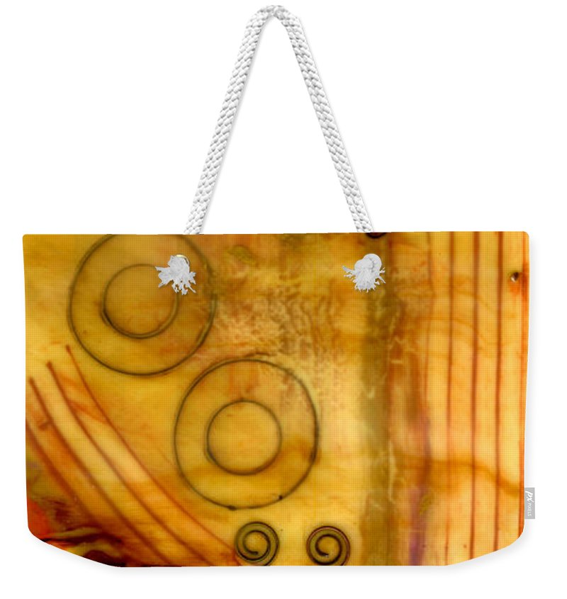 Wood Weekender Tote Bag featuring the mixed media Helping Hands by Angela L Walker