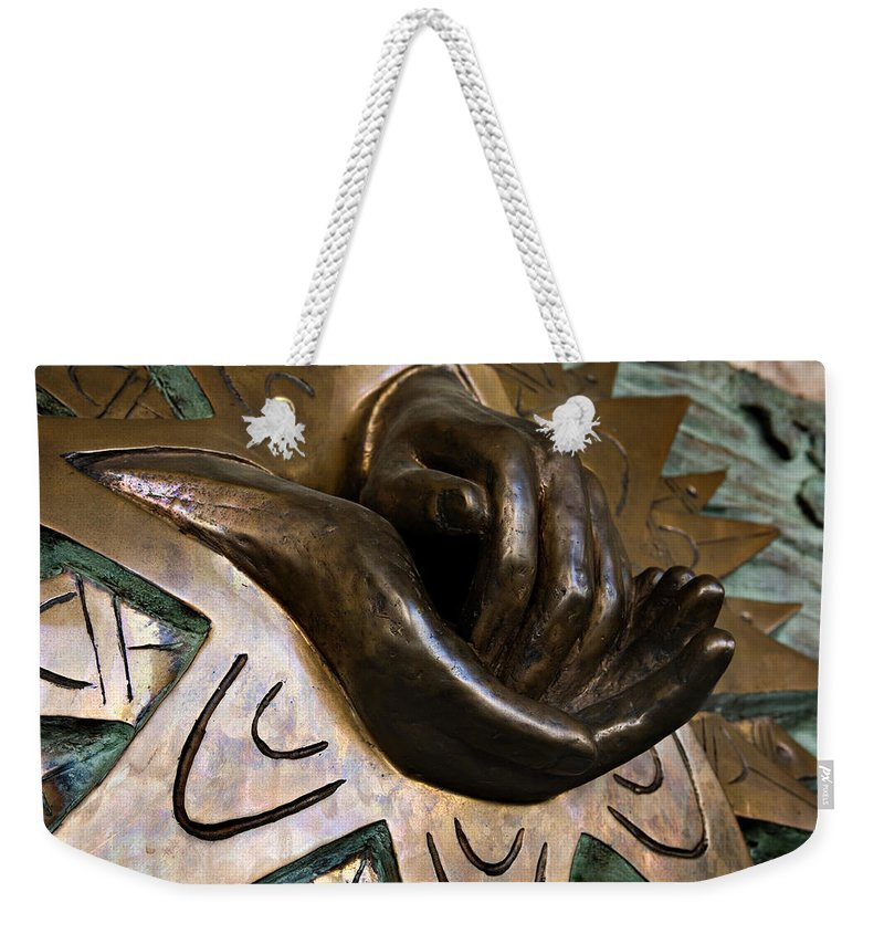 Italy Weekender Tote Bag featuring the photograph Helping Hands by Marilyn Hunt