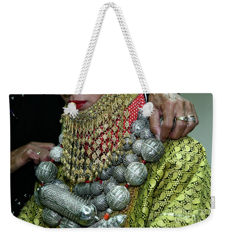 Henna Weekender Tote Bag featuring the photograph Henna Ceremony by Chen Leopold