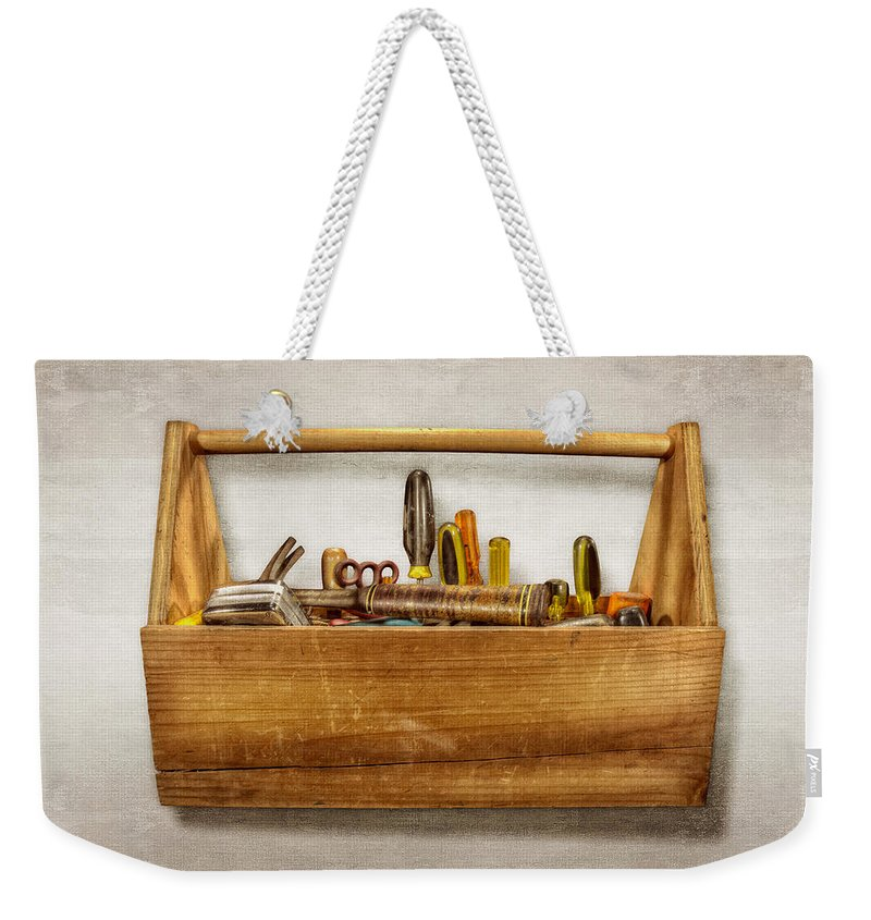 Box Weekender Tote Bag featuring the photograph Henry's Toolbox by YoPedro