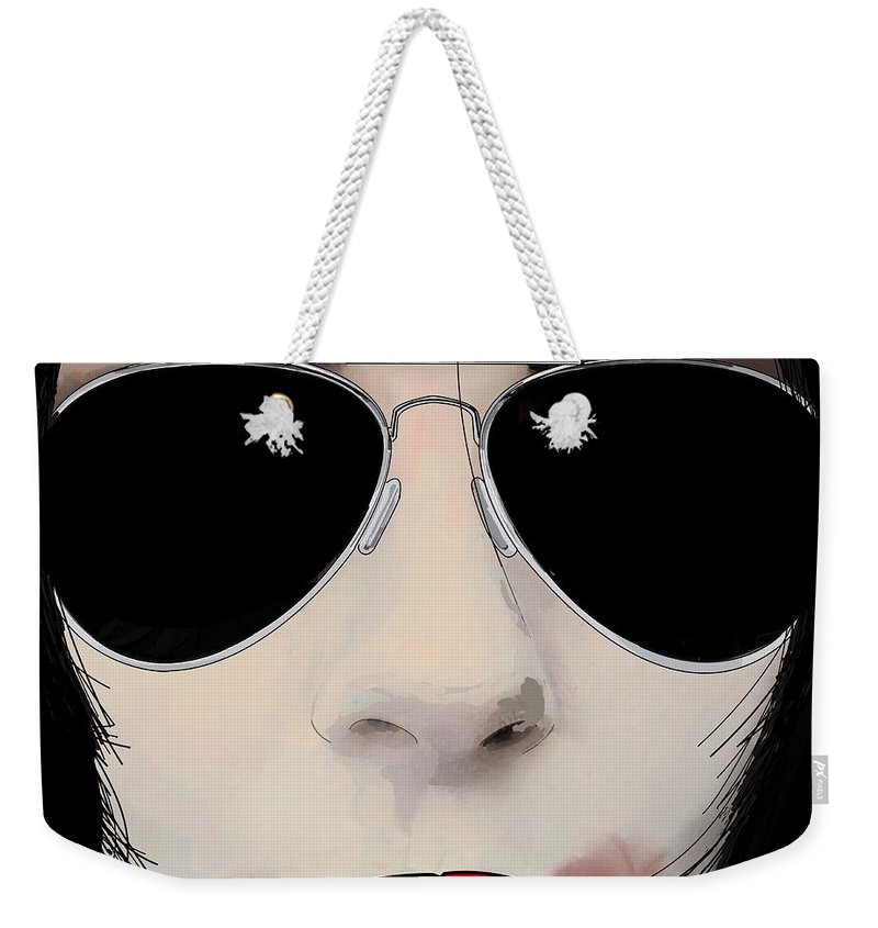 Bite Weekender Tote Bag featuring the digital art Her Bite by Kevin Sweeney