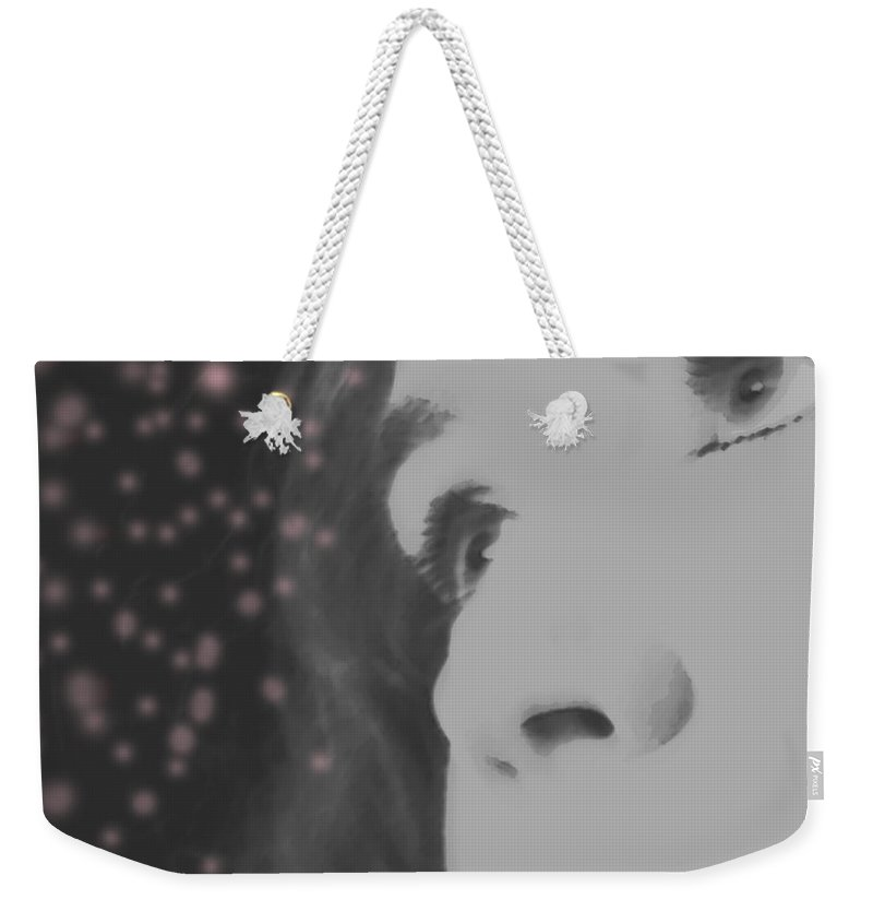 Faces Weekender Tote Bag featuring the photograph Her Energy by Amanda Barcon