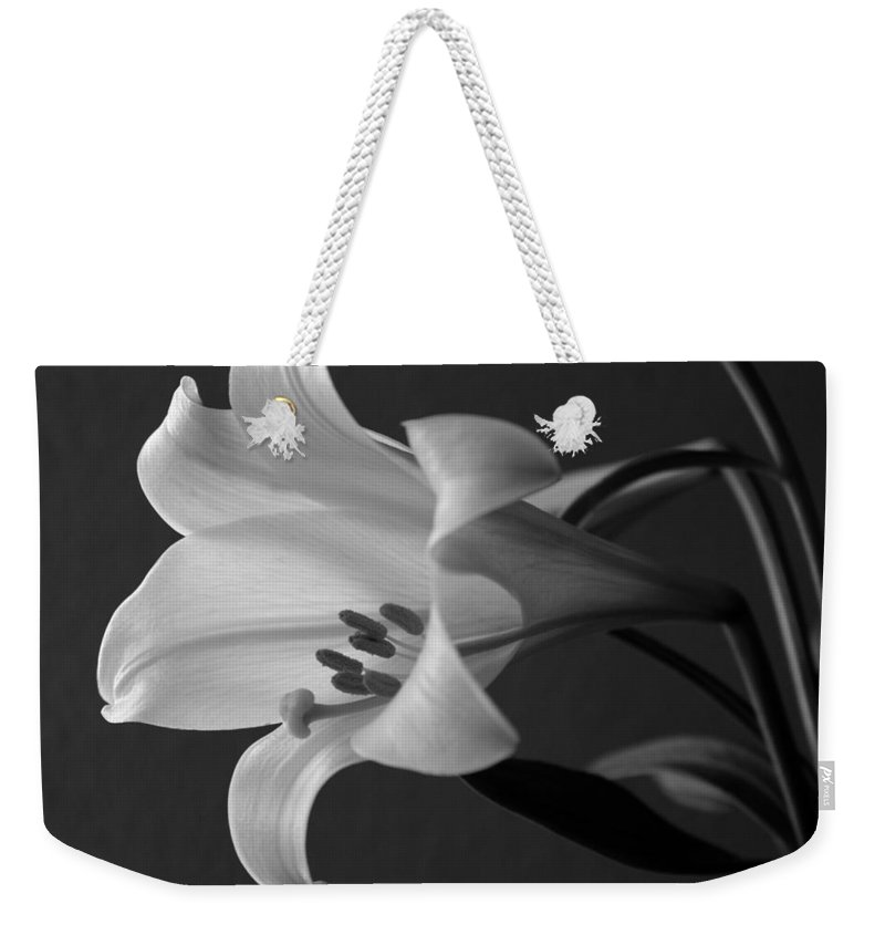 Black And White Weekender Tote Bag featuring the photograph Her Name was Lily by Colleen Cornelius