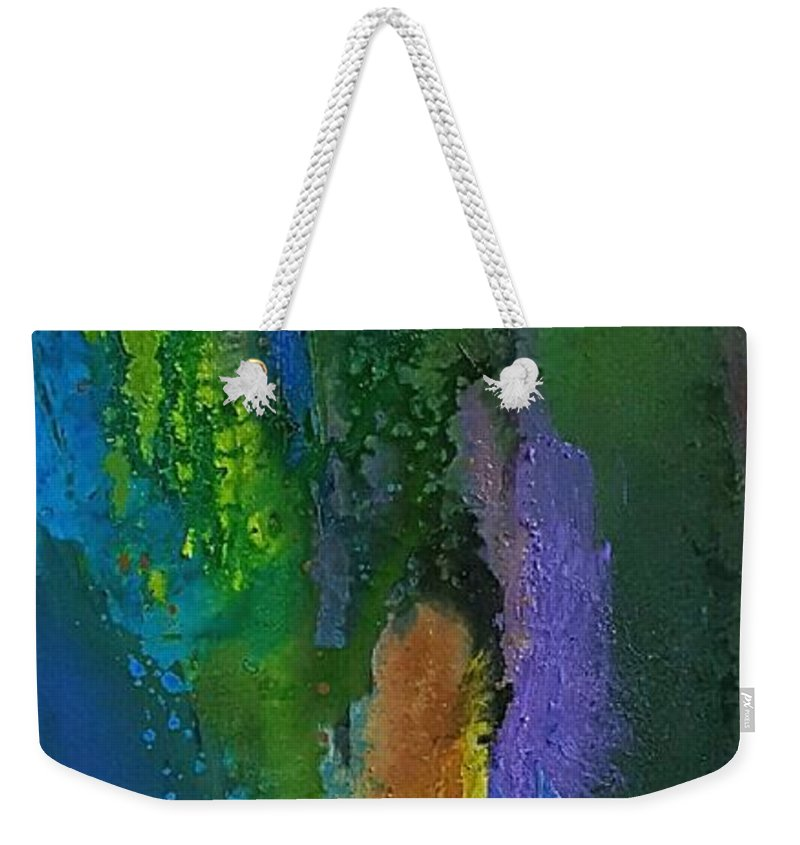 Weekender Tote Bag featuring the painting Hera11 by Rosemary Hadeed
