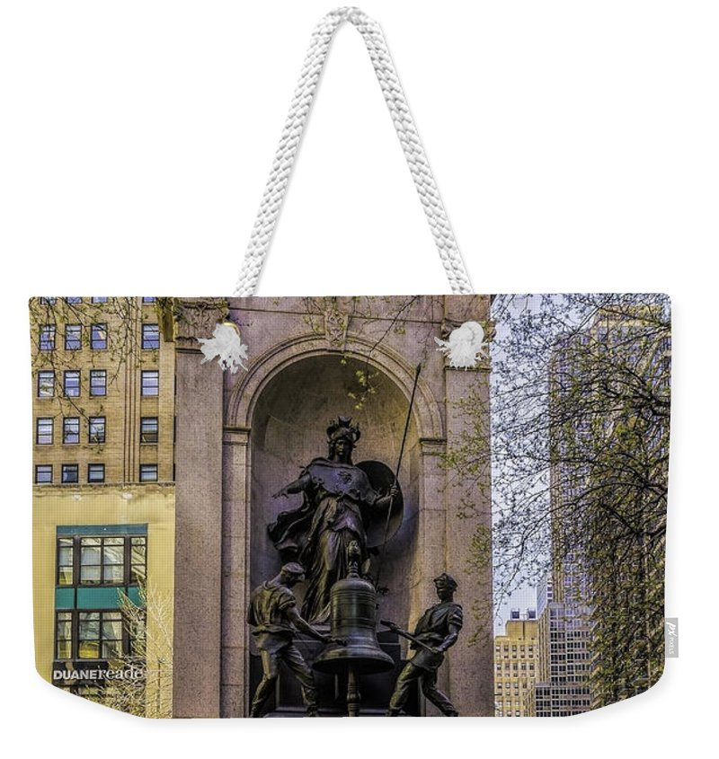 City Weekender Tote Bag featuring the photograph Herald Square - Nyc by Nick Zelinsky