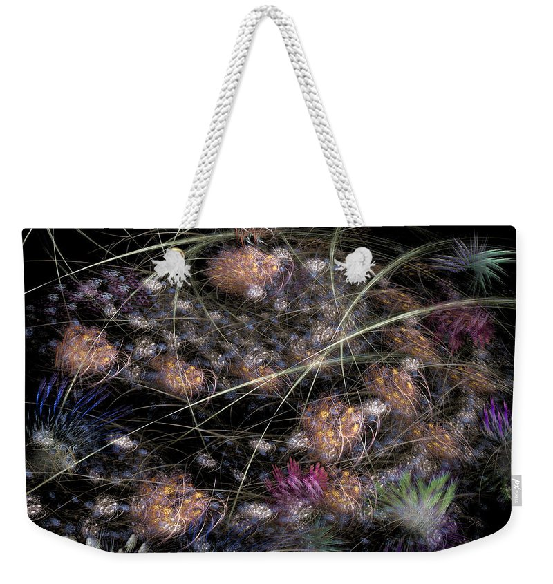 Abstract Weekender Tote Bag featuring the digital art Herbaceous by Casey Kotas