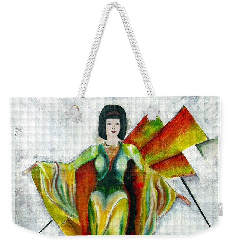 Dress Weekender Tote Bag featuring the painting Here Comes The Sun by Tom Conway