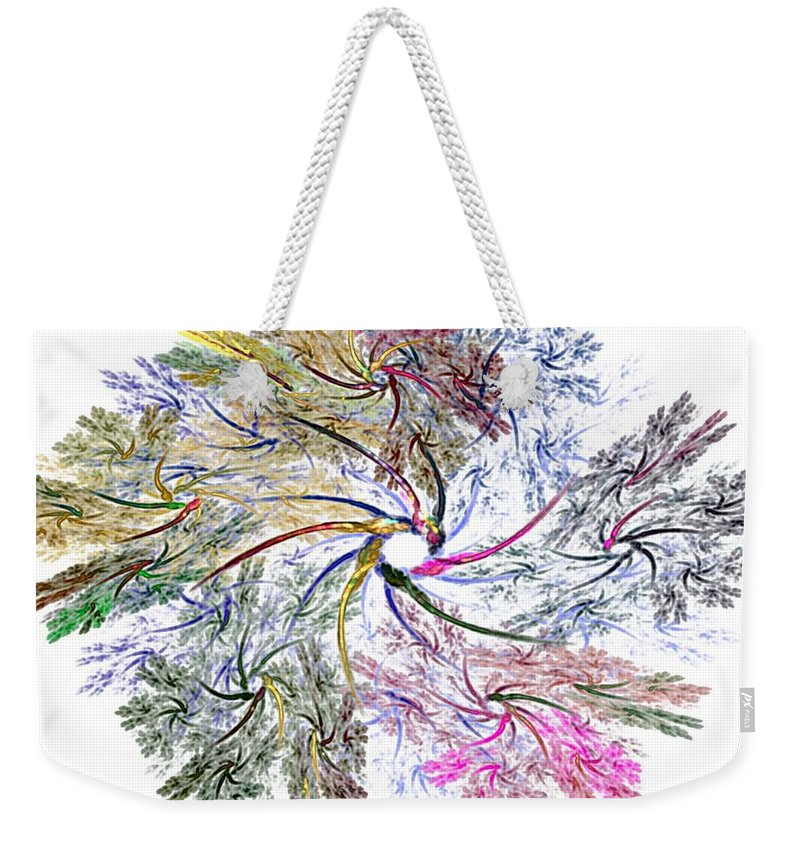 Fine Art Weekender Tote Bag featuring the digital art Here There Be Dragons by David Lane