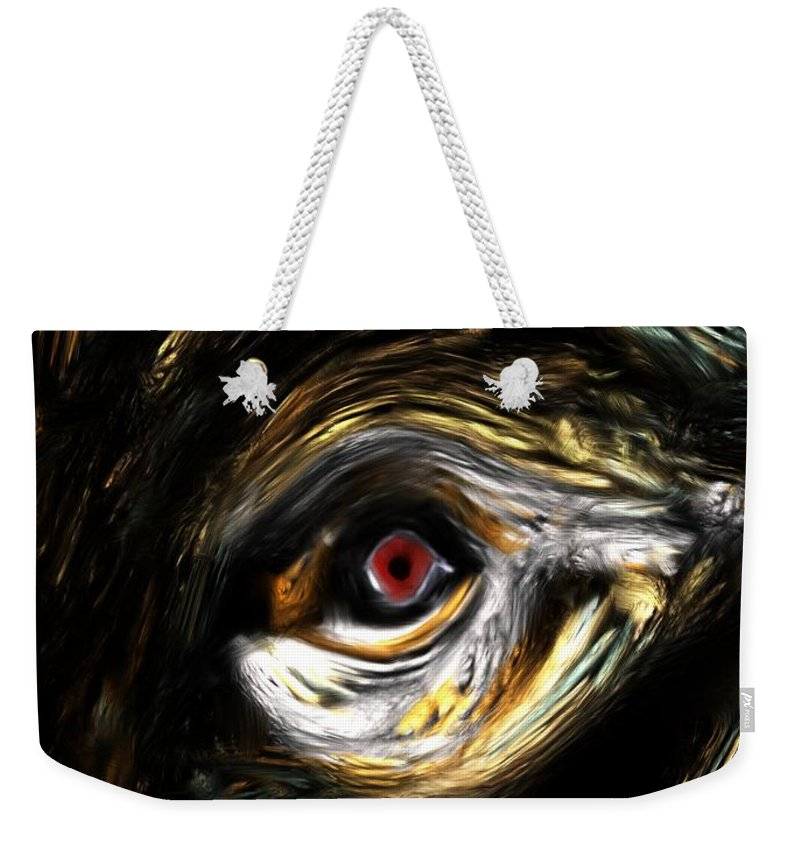 Abstract Digital Painting Weekender Tote Bag featuring the digital art Here's Looking At You by David Lane