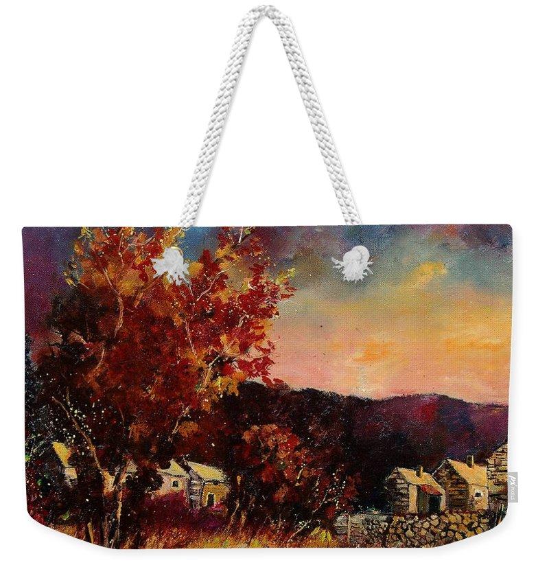 Tree Weekender Tote Bag featuring the painting Herhet by Pol Ledent