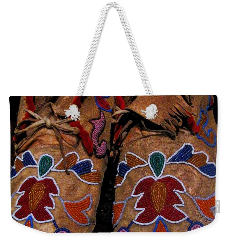 Aboriginal Weekender Tote Bag featuring the photograph Heritage by Ian MacDonald