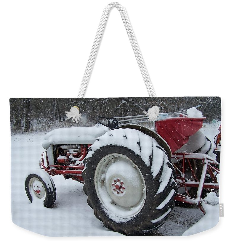 Tractor Weekender Tote Bag featuring the photograph Herman by Gale Cochran-Smith