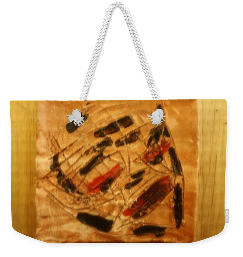 Jesus Weekender Tote Bag featuring the ceramic art Heroes - Tile by Gloria Ssali